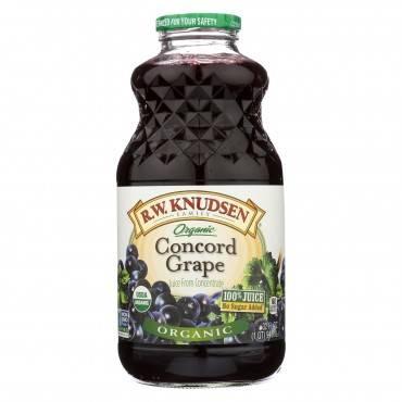 R.W. Knudsen Organic Juice - Concord Grape - Case of 6 - 32 fl oz