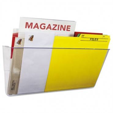 Storex Wall File, Legal, 16 X 7, Single Pocket, Clear