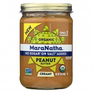 Maranatha Natural Foods Organic Peanut Butter - Creamy - No Stir - Case of 6 - 16 oz