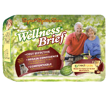 "Wellness Briefs Superio Series, Large 36"" - 46"" (54/Case)"