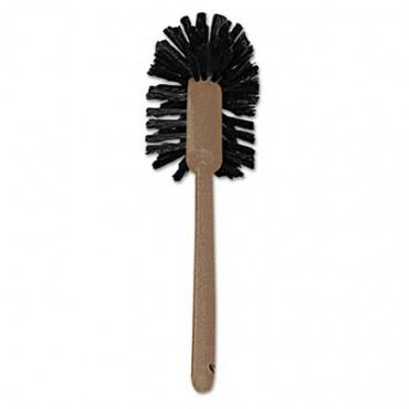 "Commercial-grade Toilet Bowl Brush, 17"" Long, Plastic Handle, Brown"