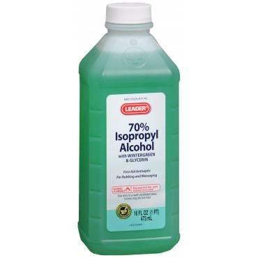Leader 70% isopropyl rubbing alcohol, 16 oz., wintergreen part no. 2810620 (1/ea)