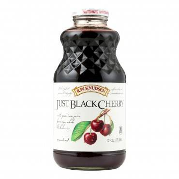 R.W. Knudsen Juice - Just Black Cherry - Case of 12 - 32 Fl oz.