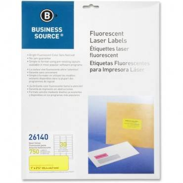 "Business Source 1"" Fluorescent Laser Labels (PK/PACKAGE)"