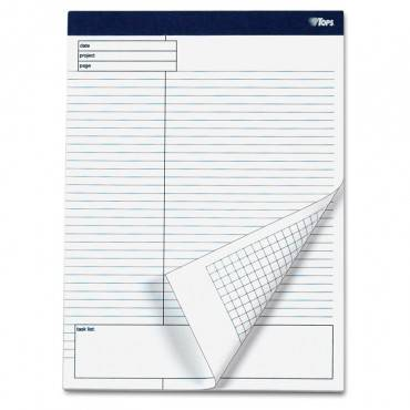Docket Gold Planning Pad, Project Notes/quadrille Rule, 8.5 X 11.75, 40 Sheets, 4/pack