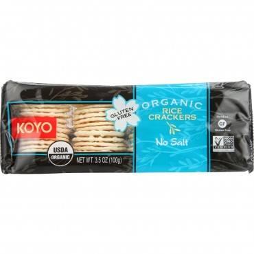 Koyo Rice Crackers - Organic - No Salt - 3.5 oz - case of 12