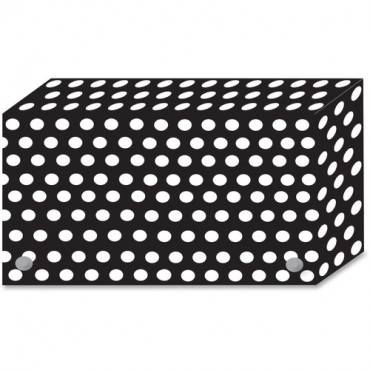 Ashley B/W Dots Design Index Card Holder (PK/PACKAGE)