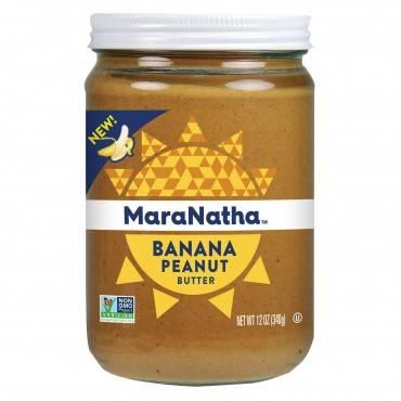 Maranatha Natural Foods Peanut Butter - Banana - Case of 6 - 12 oz