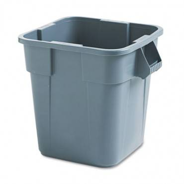 Brute Container, Square, Polyethylene, 28gal, Gray