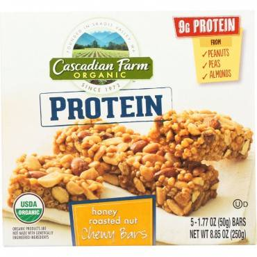 Cascadian Farm Granola Bar - Organic - Protein - Honey Roasted Nut - 8.85 Oz - Case Of 12