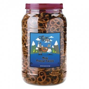 Pretzel Assortment Old Fashioned Mini-pretzel Twists, 40oz Tub