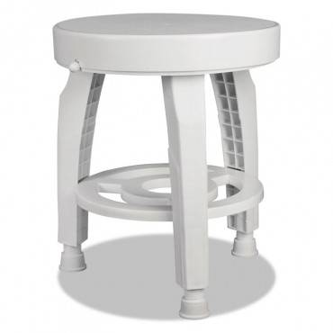 """360 Swivel Bath Seat With Bactix Antimicrobial, White, 16"""" Diameter"""