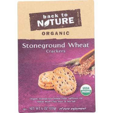 Back To Nature Crackers - Organic Stoneground Wheat - Case Of 6 - 6 Oz.