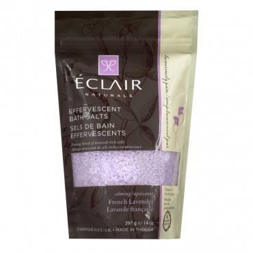 Eclair Naturals Effervescent Bath Salts - French Lavender - 14 Oz.