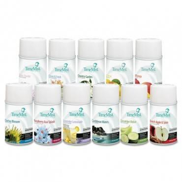 Premium Metered Air Freshener Refill, Assorted Fragrances, 6.6oz Aerosol, 12/carton