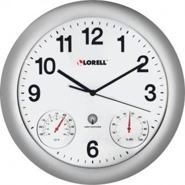 Lorell Analog Temperature/Humidity Wall Clock (EA/EACH)