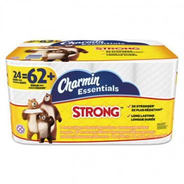 Essentials Strong Bathroom Tissue, 1-Ply, 4 X 3.92, 300/roll, 24 Roll/pack