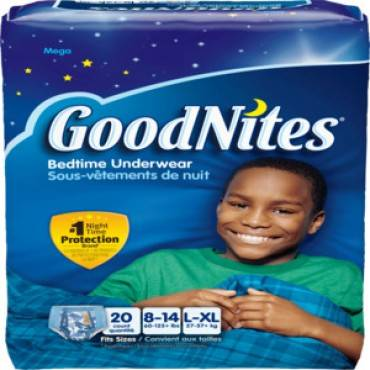 Goodnites Youth Pants For Boys Large/X-Large, Mega Pack (60/Case)