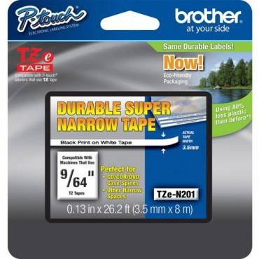 Brother TZ Super Narrow Non-laminated Tapes (EA/EACH)