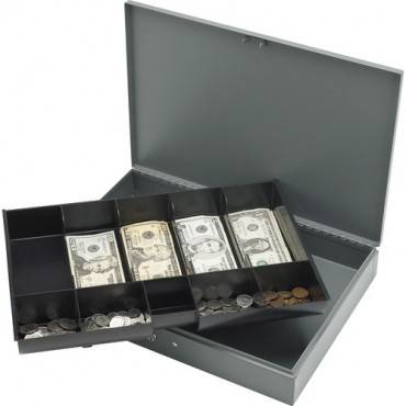 Sparco All-Steel Locking Cash Box with Tray (EA/EACH)