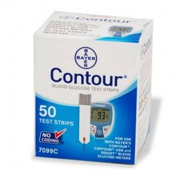 Bayer Healthcare contour blood glucose test strips Model: 7099C (50/BX)