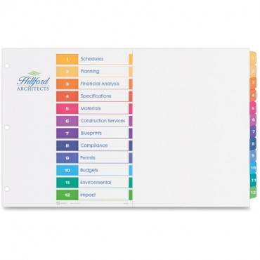 """Avery® 11"""" x 17"""" Ready Index Customizable Table of Contents Dividers (ST/SET)"""