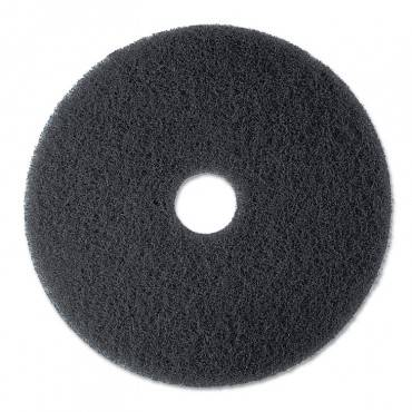 "High Productivity Floor Pad 7300, 17"" Diameter, Black, 5/carton"