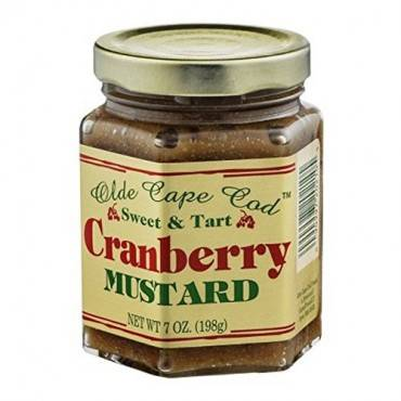 Olde Cape Cod Sweet And Tart Mustard - Cranberry - Case Of 12 - 7 Oz.