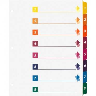 Business Source Color-coded Table of Contents/Tabs Index Dividers (BX/BOX)
