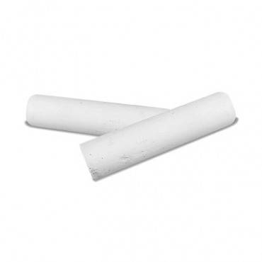 "Dixon  Railroad Crayon Chalk, 4"" X 1"", White, 72/Box"