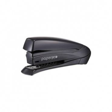 Inspire Spring-powered Full-strip Stapler, 20-sheet Capacity, Black