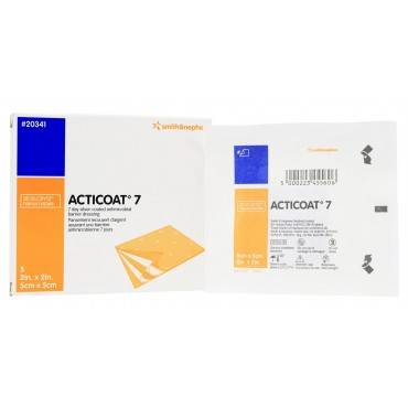 "Acticoat Seven Day Antimicrobial Barrier Dressing 2"" X 2"" Part No. 20341 (5/box)"