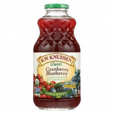R.W. Knudsen Organic Juice - Cranberry Blueberry - Case of 6 - 32 fl oz