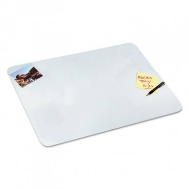 Eco-clear Desk Pad With Antimicrobial Protection, 29 X 59, Clear Polyurethane