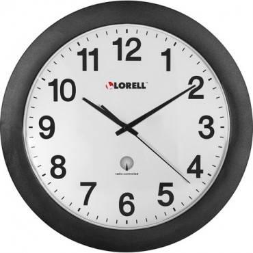 "Lorell 12"" Round Radio Controlled Wall Clock (EA/EACH)"