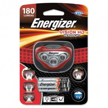 Energizer  Led Headlight, 3 Aaa, Red