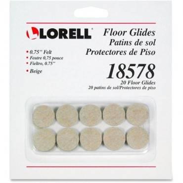 Lorell Self-Stick Round Felt Floor Glides (/)