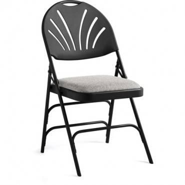 Samsonite Fanback Steel & Fabric Folding Chair (Case/4) (CA/CASE)