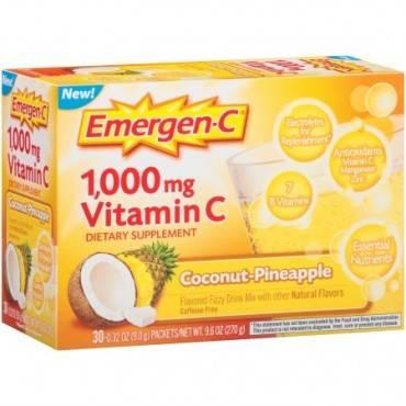 Emergen-c Original Formula - 1000 Mg Vitamin C - Coconut Pineapple - 30 Packets