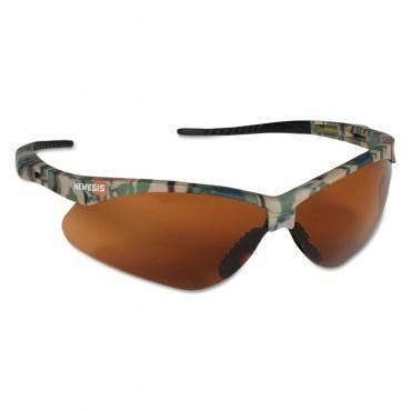 Nemesis Safety Glasses, Camo Frame, Bronze Lens