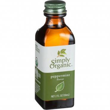 Simply Organic Peppermint Flavor - Organic - 2 oz