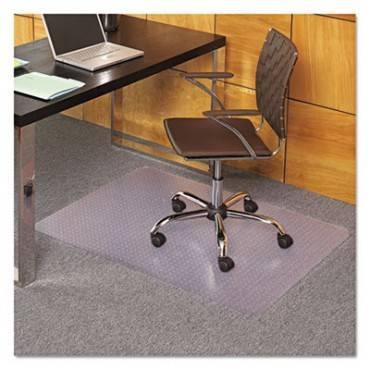 Es Robbins  Everlife Chair Mats For Medium Pile Carpet, Rectangular, 36 X 44, Clear