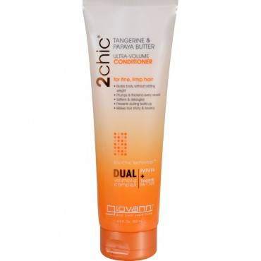 Giovanni Hair Care Products 2chic Conditioner - Ultra-Volume Tangerine and Papaya Butter - 8.5 fl oz