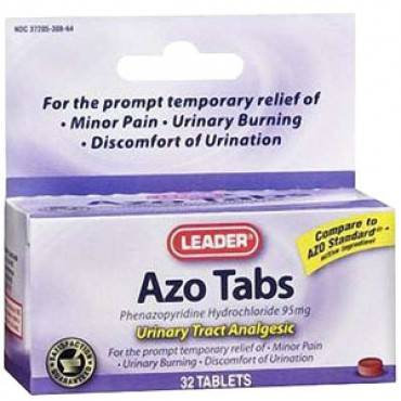 Leader Azo Analgesic Tablets (30 Count) Part No. 4903332 Qty  Per Box