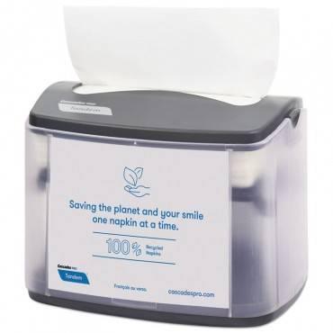 Cascades Pro Tandem Tabletop Napkin Dispenser, 6.1 X 8.16 X 6.3, Gray, 4/carton C402 4 Case