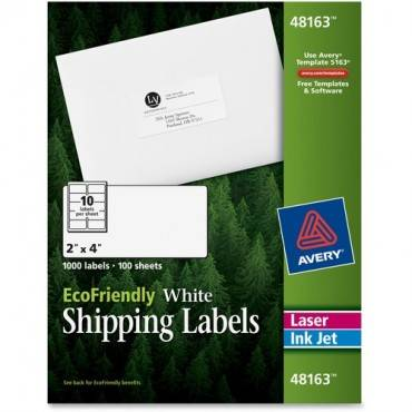 Avery® EcoFriendly Shipping Labels (BX/BOX)