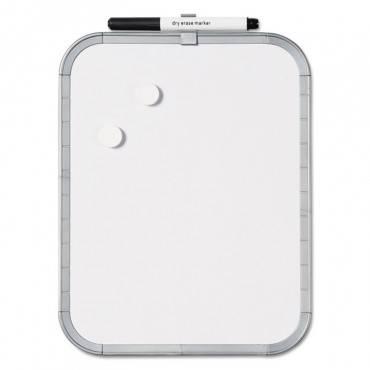 Magnetic Dry Erase Board, 11 X 14, White Plastic Frame