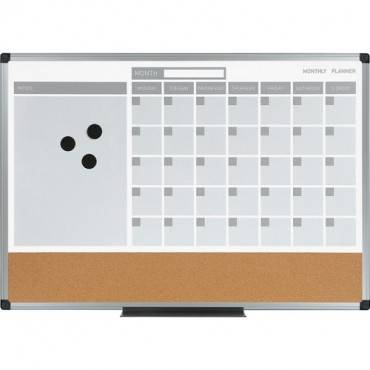 MasterVision 3-in-1 Monthly Dry-erase Calendar Board (EA/EACH)