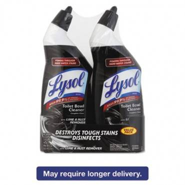 Lysol  Brand Disinfectant Toilet Bowl Cleaner W/Lime/Rust Remover, Wintergreen, 24oz, 2/Pack