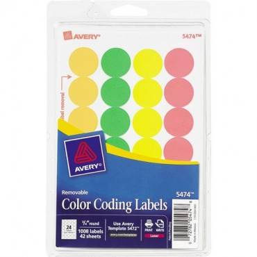 """Avery® 3/4"""" Round Color Coding Labels (PK/PACKAGE)"""